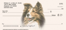 Click on Sheltie Dog Personal Checks For More Details