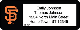 Click on San Francisco Giants(TM) MLB(R) Return Address Label For More Details