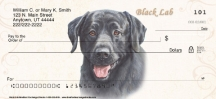Click on Black Labrador Dog Personal Checks For More Details