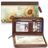 Click on Sunflowers Zippered Checkbook Cover Wallet For More Details