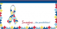 Click on Autism: Imagine Checkbook Cover Checks For More Details