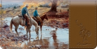 Click on Cowboy Round Up Checkbook Cover For More Details