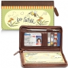 Click on Just Bee Genuine Leather Zippered Checkbook Cover Wallet For More Details