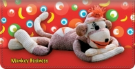 Click on Sock Monkey Checkbook Cover For More Details