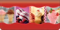 Click on Ice Cream Dreams Leather Checkbook Cover For More Details