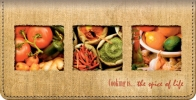 Click on Cooking Is...The Spice of Life Checkbook Cover For More Details