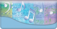 Click on Music Speaks Checkbook Cover For More Details