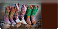 Click on Cowboy Boots Checkbook Cover For More Details