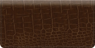 Click on Brown Croc Checkbook Cover For More Details