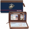 Click on USMC Genuine Leather Zippered Checkbook Cover Wallet For More Details