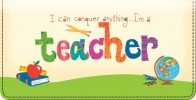 Click on Teachers Rule! Checkbook Cover For More Details