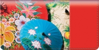 Click on Asian Umbrella Bouquet Checkbook Cover For More Details