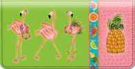 Click on Flamingo Fun Checkbook Cover For More Details