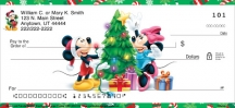 Click on Disney Mickey & Friends Holiday  Personal Checks For More Details