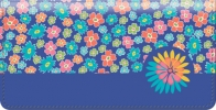 Click on Retroflection Flowers Checkbook Cover For More Details