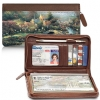 Click on The Best of Thomas Kinkade Genuine Leather Zippered Checkbook Cover Wallet For More Details