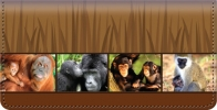Click on Protect the Primates Checkbook Cover For More Details