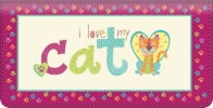 Click on I Love My Cat Checkbook Cover For More Details