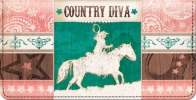Click on Country Diva Checkbook Cover For More Details