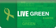 Click on Live Green Checkbook Cover For More Details