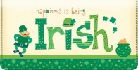 Click on Luck of the Irish Checkbook Cover For More Details