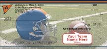 Click on Blue & Orange Team Spirit  Personal Checks For More Details