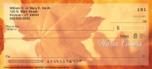 Click on Autumn Leaves  Personal Checks For More Details