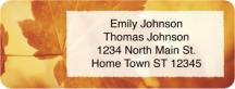Click on Autumn Leaves Return Address Label For More Details