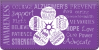 Click on Alzheimers Awareness Checkbook Cover For More Details