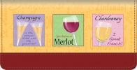 Click on It's Wine Time Checkbook Cover For More Details