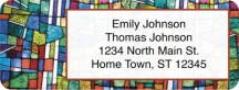 Click on Stained Glass Return Address Label For More Details