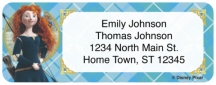 Click on Disney/Pixar Brave Return Address Label For More Details