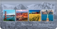 Click on America the Beautiful Checkbook Cover For More Details