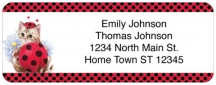 Click on Cute as a Bug Kittens Return Address Label For More Details