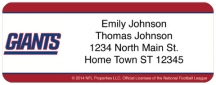 Click on New York Giants NFL Return Address Label For More Details