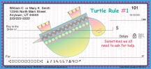 Click on Turtle Rules Personal Checks For More Details