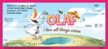 Click on Olaf in Summer Personal Checks For More Details