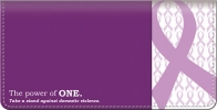 Click on Prevent Domestic Violence Checkbook Cover For More Details