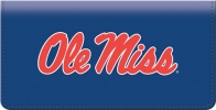 Click on Ole Miss Checkbook Cover For More Details