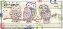 Groovy Owls Personal Personal Checks