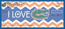 Click on I Love Gators Chevron Personal Checks For More Details