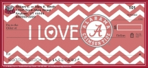 Click on I Love Bama Chevron Personal Checks For More Details