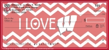 Click on I Love Badgers Chevron Personal Checks For More Details