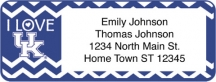 Click on I Love Wildcats Chevron Return Address Label For More Details