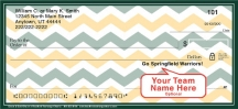 Click on Green & Gold Chevron Personal Checks For More Details