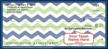 Click on Blue & Green Chevron Personal Checks For More Details