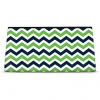 Click on Blue and Green Chevron Cosmetic Bag For More Details