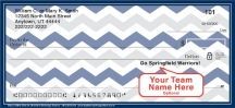 Click on Blue & Silver Chevron Personal Checks For More Details