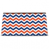 Click on Blue and Orange Chevron Cosmetic Bag For More Details