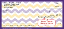 Click on Purple & Gold Chevron Personal Checks For More Details